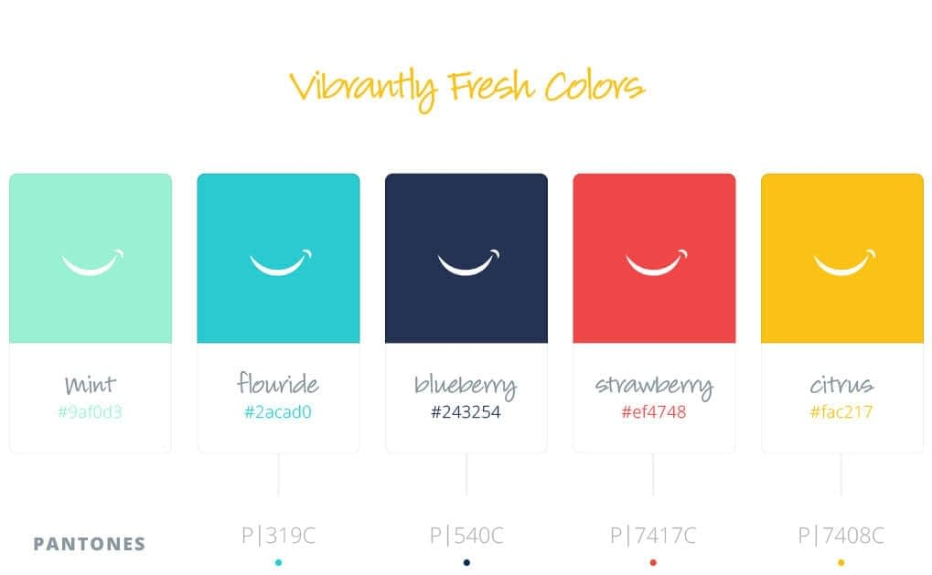 Dupont-Family-Dentistry_Logo_Cosmetic-General_Dentist_Fort-Wayne-Indiana_Dr-Diehl_Brand-Identity-Design_Color-Palette_Vibrantly-Fresh-Colors