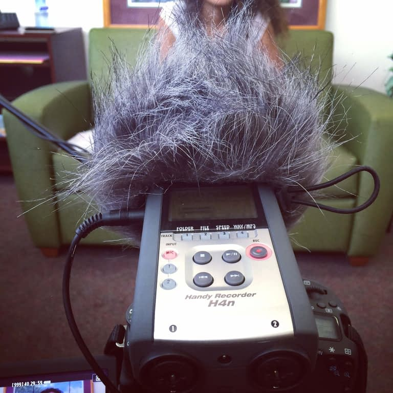 Be-Someone-Now-Scan-Inc-Zoom-H4n-Field-Recorder-Testing-Audio-Levels-Before-Filming-Promo-Video@2x